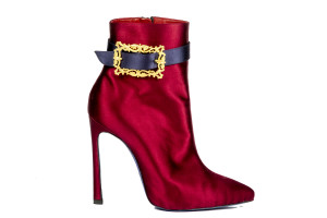 Amato Daniele ankle boot in raso e taccol alto