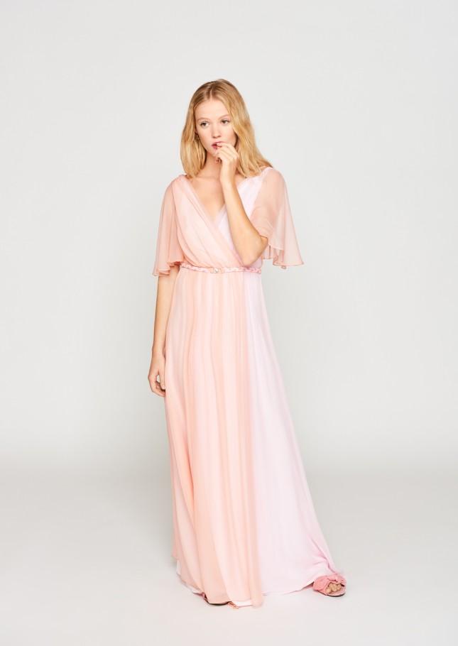 Un abito sfumato rosa e pesca by Tara Jarmon