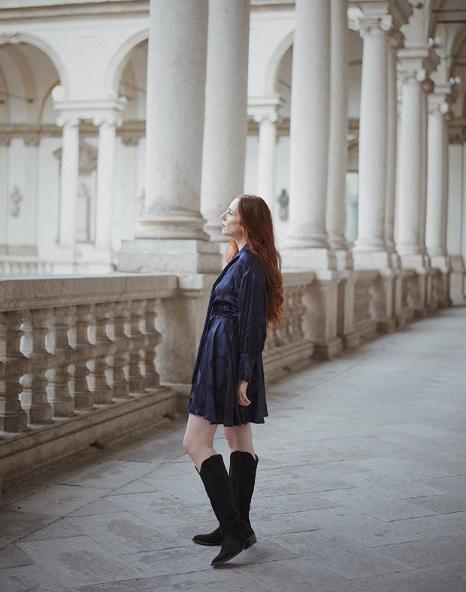 Eleonora Aricò in abito Tara Jarmon